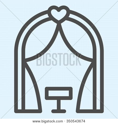 Ark Line Icon. Romantic Ceremony Altar Place. Wedding Asset Vector Design Concept, Outline Style Pic