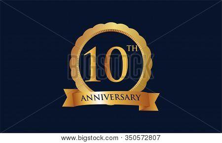 10th Anniversary Celebration Logo Design Vector Illustration