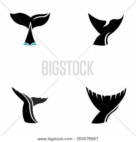 Whale Tail Icon Vector Illustration