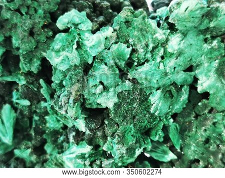 Malachite Mineral Texture As Very Nice Natural Background