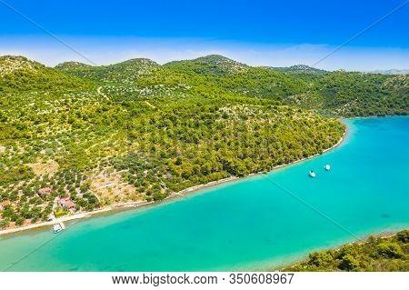 Croatia, Beautiful Adriatic Sea, Small Islands Archipelago In Nature Park Telascica On The Island Of