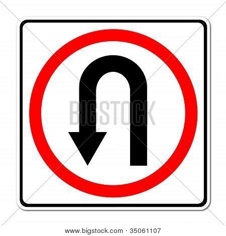 Turn Back Road Sign
