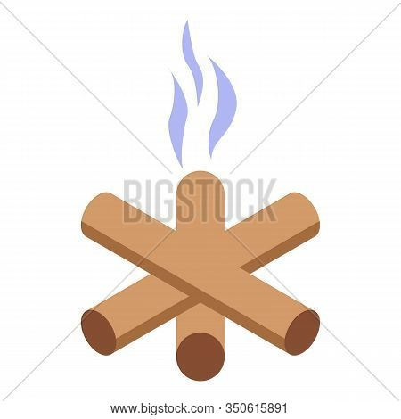 Burned Campfire Icon. Isometric Of Burned Campfire Vector Icon For Web Design Isolated On White Back