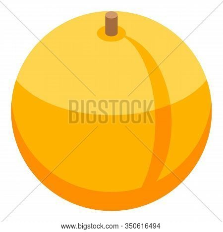 Whole Peach Icon. Isometric Of Whole Peach Vector Icon For Web Design Isolated On White Background