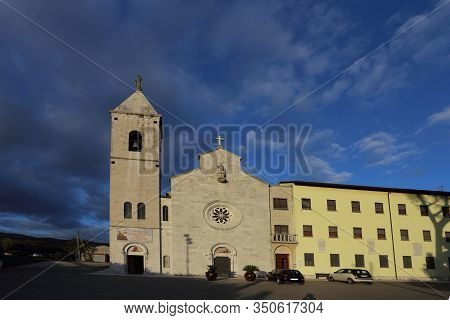 Venafro, Italy - October 16, 2019: The Basilica Of Sts. Martyrs Nicandro, Marciano And Daria Which H