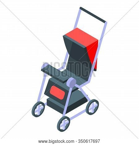 Mother Pram Icon. Isometric Of Mother Pram Vector Icon For Web Design Isolated On White Background