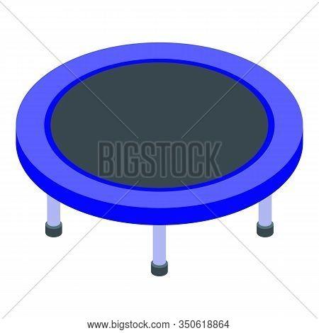 Playground Trampoline Icon. Isometric Of Playground Trampoline Vector Icon For Web Design Isolated O