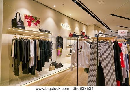 HONG KONG, CHINA - CIRCA JANUARY, 2019: interior shot of Agnes B store at ifc mall in Hong Kong.