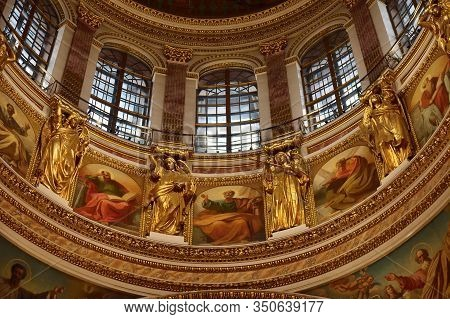 Interiors Of The Saint Isaac Cathedral In Saint Petersburg. Russia
