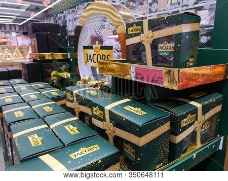 Strong German Jacobs Coffee On Shelf For Sale At Auchan Shopping Centre On December 25, 2019 In Russ