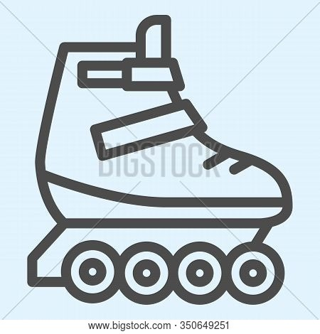 Rollers Line Icon. Skates Roller Shoes. Sport Vector Design Concept, Outline Style Pictogram On Whit