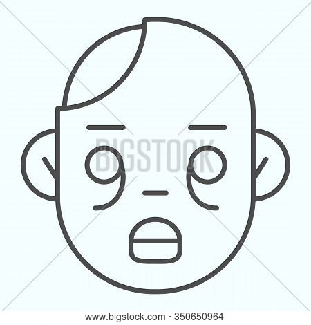 Zombies Thin Line Icon. Zombie Head With Child Face. Halloween Vector Design Concept, Outline Style