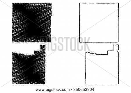 Morgan And Otero County, Colorado (u.s. County, United States Of America,usa, U.s., Us) Map Vector I