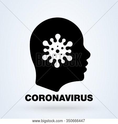 Coronavirus Icon. Corona, Virus Symbol. Pandemics, Pathogen, Epidemic Icon. Biological Hazard, Bioha