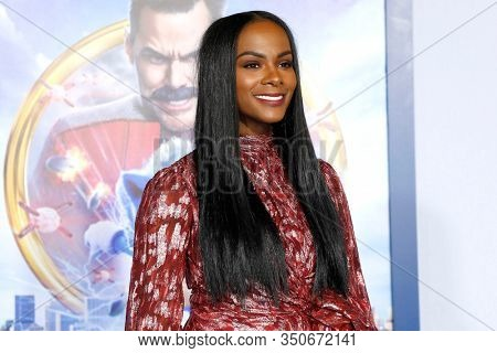 LOS ANGELES - JAN 12: Tika Sumpter at the Sonic The Hedgehog Special Screening at the Regency Village Theater on February 12, 2020 in Los Angeles, California