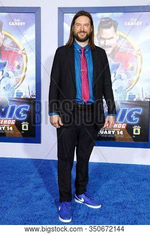 LOS ANGELES - JAN 12: Pat Casey at the Sonic The Hedgehog Special Screening at the Regency Village Theater on February 12, 2020 in Los Angeles, California