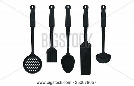 Cooking Utensils And Tools For Food Preparation Vector Set