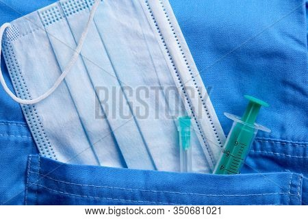 Medical mask and other supplies, coronavirus danger