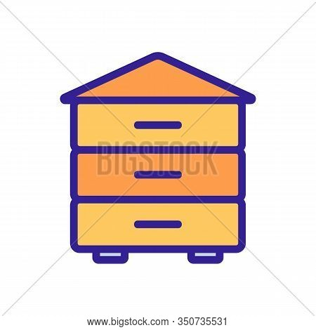 Hive Icon Vector. Thin Line Sign. Isolated Contour Symbol Illustration