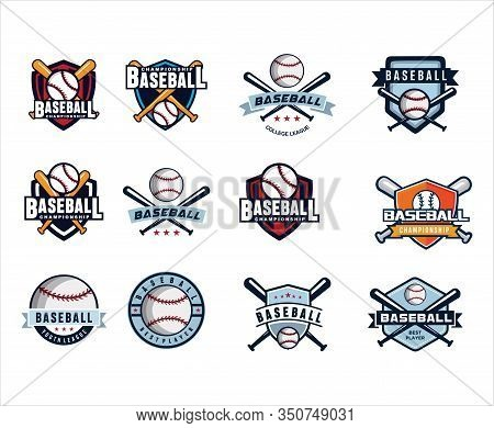 Set Of Baseball Championship Logo Design Inspiration. Template Logo . Baseball Logo Template . Bold,