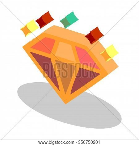 Isometric Diamond Icon, Diamond Icon Eps10, Diamond Icon Vector, Diamond Icon Vector Illustrations,