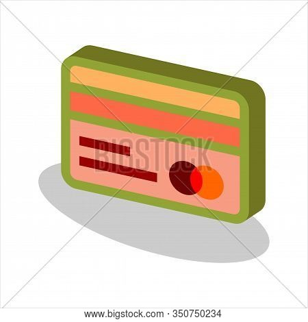 Isometric Credit Card Front And Back View Icon, Credit Card Front And Back View Icon Eps10, Credit C