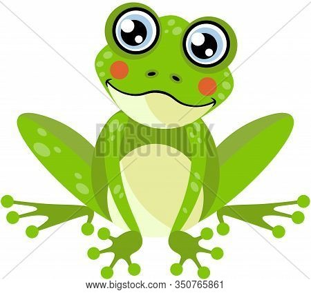 Scalable Vectorial Representing A Cute Frog, Element For Design, Illustration Isolated On White Back