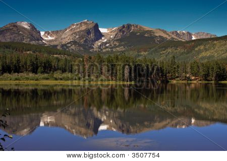 Sprague Lake at Rocky Mountain National Park in Estes Park Colorado poster