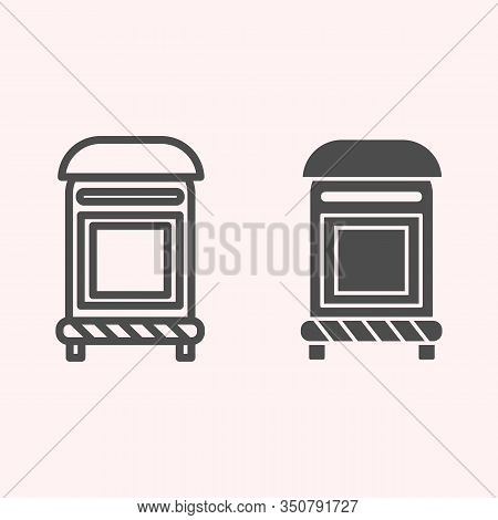 Mailbox Line And Glyph Icon. Mail Postage Letterbox. Postal Service Vector Design Concept, Outline S