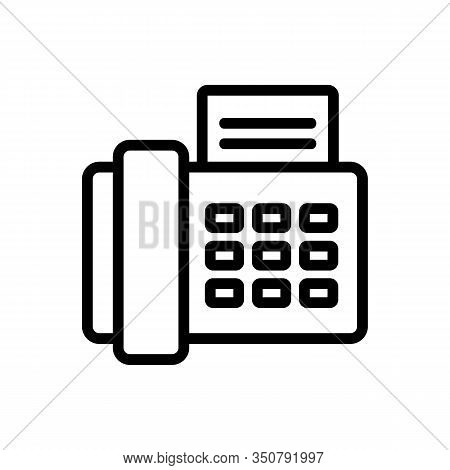 Fax Icon Vector. Thin Line Sign. Isolated Contour Symbol Illustration