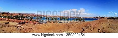 Panorama Of Sharm El-maya Bay (red Sea) With The Old Market On The Horizon In Sharm El Sheikh (egypt