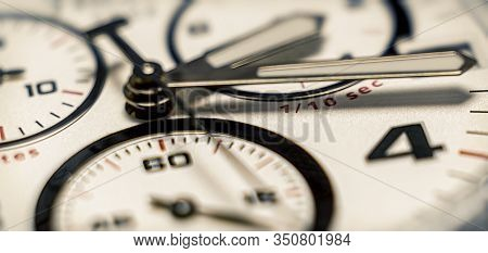 Hands Of The Clock. Abstract Blurred Clock Background. Selective Focus. Blurr