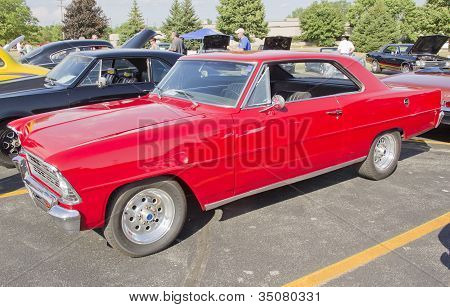 Red 1967 Chevy Nova