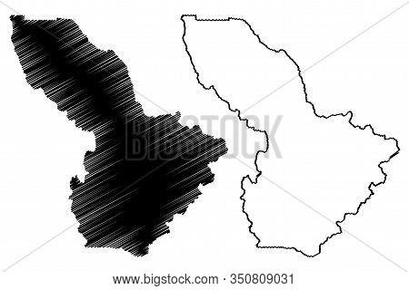 Summit County, Colorado (u.s. County, United States Of America,usa, U.s., Us) Map Vector Illustratio
