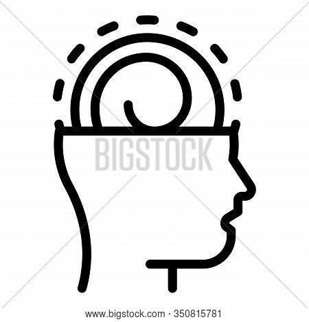 Mind Hypnosis Icon. Outline Mind Hypnosis Vector Icon For Web Design Isolated On White Background