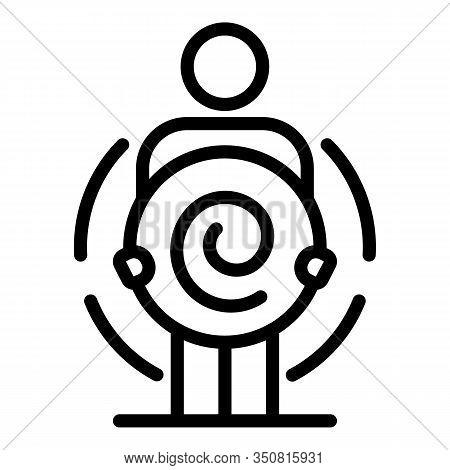 Twirl Hypnosis Icon. Outline Twirl Hypnosis Vector Icon For Web Design Isolated On White Background