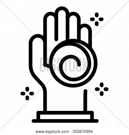 Hand Hypnosis Icon. Outline Hand Hypnosis Vector Icon For Web Design Isolated On White Background