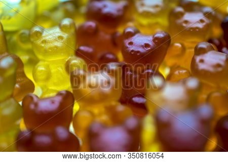 Multi-colored Gelatin Gummy Bears Vitamins And Sweets