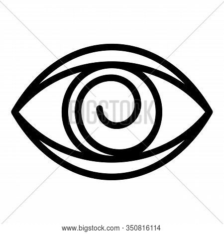 Eye Hypnosis Icon. Outline Eye Hypnosis Vector Icon For Web Design Isolated On White Background