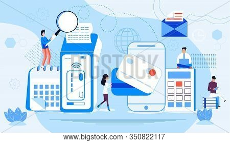 Nfc Terminal Concept Vector. Nfc Payments By Bank Credit Card. Pos Terminal Confirms E-payment Using