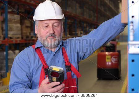 Senior Worker In Factory
