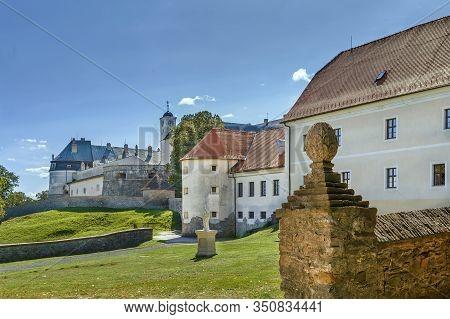 Cerveny Kamen Castle Is A 13th-century Castle In Southwestern Slovakia.