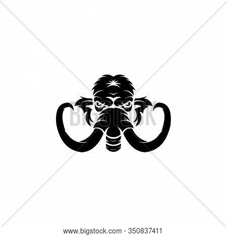 Elephant Head Logo,elephant Emblem Design Editable For Your Business,elephant Head Logo Mascot Vecto