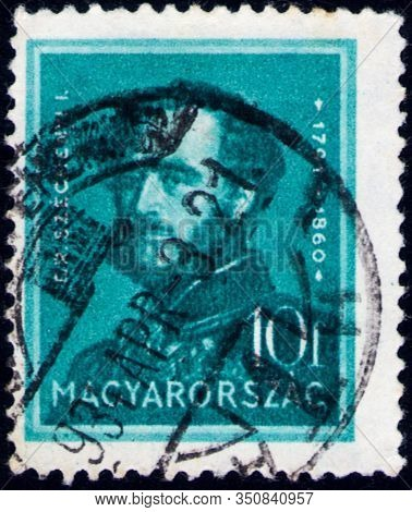 Saint Petersburg, Russia - February 01, 2020: Postage Stamp Issued In The Hungary With The Image Of