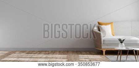 Bright And Modern Interior Background, Wall Mock Up, Scandinavian Style Interior, Empty Wall Mockup,