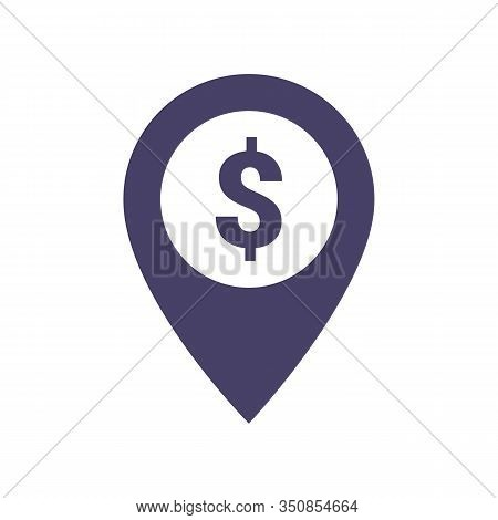 Dollar Pointer Icon. Dollar With Location Icon. Dollar Map Marker. Dollar Exchange Map Marker Filled