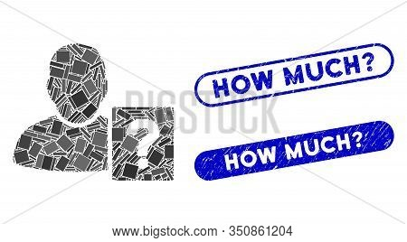 Mosaic User Status Question And Corroded Stamp Seals With How Much Question Text. Mosaic Vector User