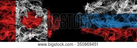 Canada Russia Smoke, Canada, Russia, Canada Russia Conflict, Russia Canada, Black Background, Smoke