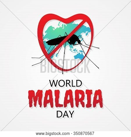 World Malaria Day Vector Letter For Element Design. International Holiday Concept Design Vector. Vec