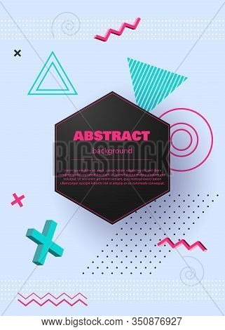 Modern Geometric Abstract Background. Abstract Circle Geometric Background Design. Template For Mode